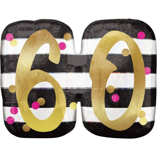 Pink & Gold 60th Birthday Holographic SuperShape